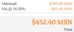 Precios ya con impuestos mostrados hasta el final